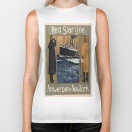 Vintage poster - Red Star Line Biker Tank