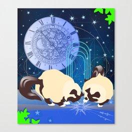 The Boy Cats Study Cosmology Canvas Print