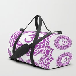 "PURPLE CROWN  PSYCHIC CHAKRAS  WHEEL ""KNOW"" Duffle Bag"