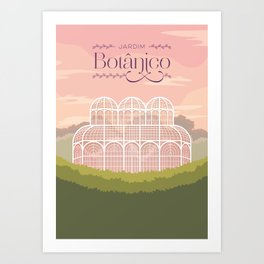Curitiba - Jardim Botânico Art Print