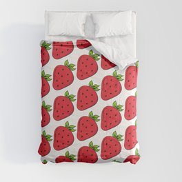 classic strawberry summer fruit Comforters