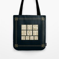 labyrinth Tote Bags featuring Labyrinth by MacGuffin Designs
