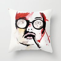 gemma correll Throw Pillows featuring Gemma. by Stephanie June Ellis
