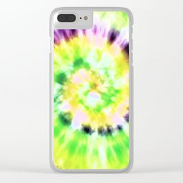 Tie Dye 1 Clear iPhone Case