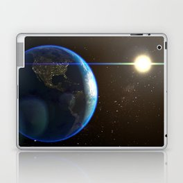Night Lighted Earth from space Laptop & iPad Skin