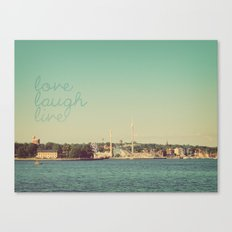 Love Laugh Live Stockholm Canvas Print