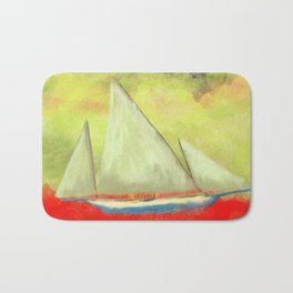 Abstract-ship Bath Mat