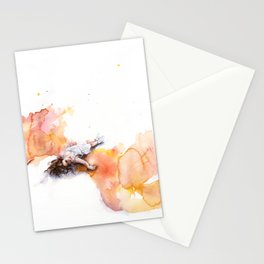 take off in flight Stationery Cards