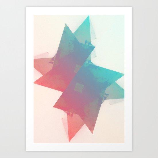 abstract star Art Print
