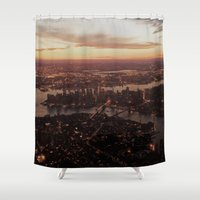 nyc Shower Curtains featuring NYC  by parrotsafety