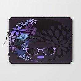 Afro Diva : Sophisticated Lady Purple Lavender Laptop Sleeve