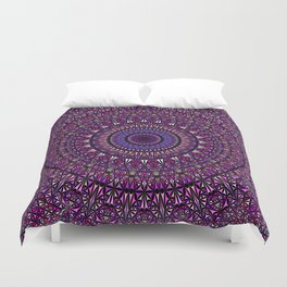 Pretty Particle Pattern Mandala Duvet Cover