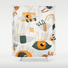Abstract Art Eyes Shower Curtain