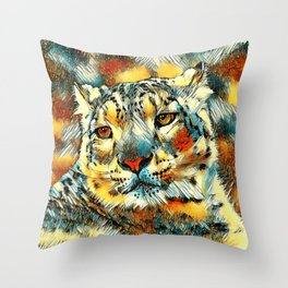 AnimalArt_Leopard_20170602_by_JAMColorsSpecial Throw Pillow