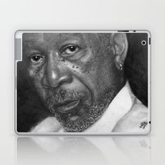 Morgan Freeman Traditional Portrait Print Laptop & iPad Skin