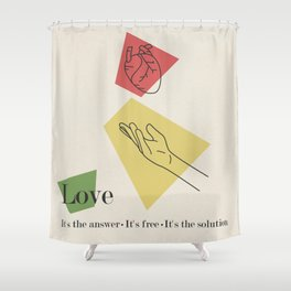Love: Fifties Shower Curtain