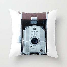 Vintage Land Camera Throw Pillow