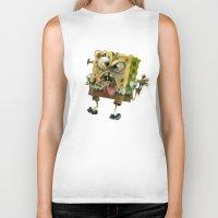 spongebob Biker Tanks featuring SpongeBob SquarePants by Tayfun Sezer