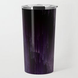 Darkness Glitches Out - Abstract Pixel Art Travel Mug