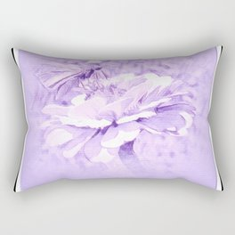 Violet Tones For The Butterfly Rectangular Pillow