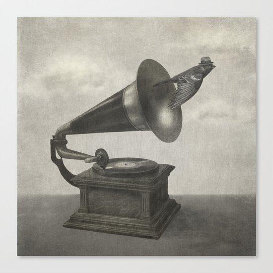 Vintage Songbird (mono)  Canvas Print