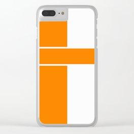 Team Color 6...orange,white Clear iPhone Case