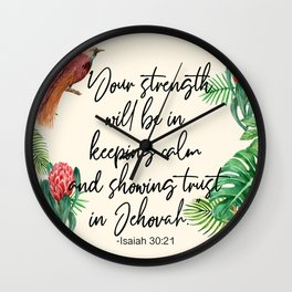 2021 Yeartext Tropical Wall Clock