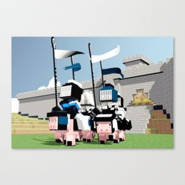 Knights of the Craft Canvas Print