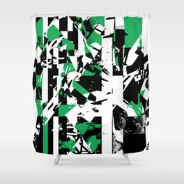Shattered Box T1 - Green version Shower Curtain