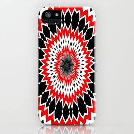 Bizarre Red Black and White Pattern iPhone Case