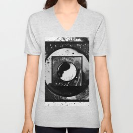 Abstract Geometric Studies In Black And White Unisex V-Neck