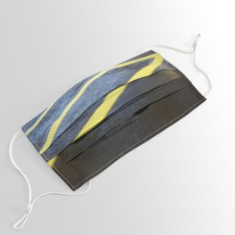 Yellow Lines Face Mask