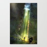 maze runner Canvas Prints featuring The Maze Runner by TK Studios