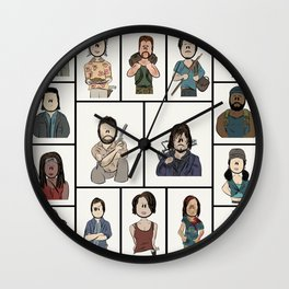The Walking Dead 16 Character Collage Wall Clock