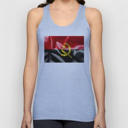 Angola Word With Flag Texture Unisex Tank Top