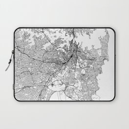Sydney White Map Laptop Sleeve