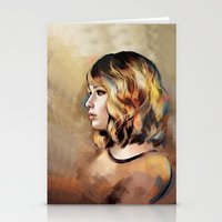 jennifer lawrence Stationery Cards featuring Lawrence by Meder Taab