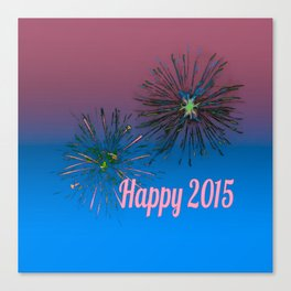 Happy 2015 Canvas Print