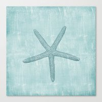 starfish Canvas Prints featuring Starfish by Zen and Chic