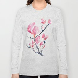 Japanese Magnolia Long Sleeve T-shirt