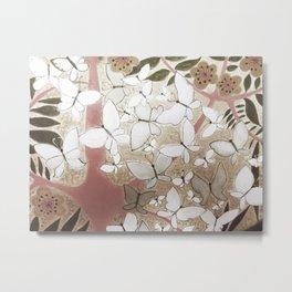 White butterflies. Metal Print