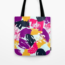 Trendy Multi Colored Paint Splash Pattern Tote Bag