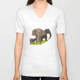 Elephant Picnic Unisex V-Neck