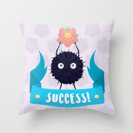 Susuwatari Success! Throw Pillow