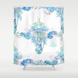 Aqua Chalcedony Shower Curtain