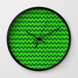 Chevron Glitter Pattern 05 Wall Clock