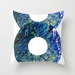 Vinyl abstract Throw Pillow