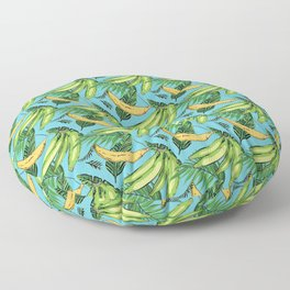 Plantain Paradise Pattern - For true plantain fans Floor Pillow
