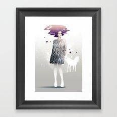 La Robe Zèbre Framed Art Print
