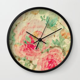 I Painted the Roses Red Wall Clock